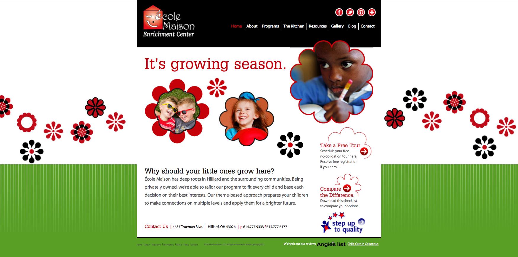 Ecole Maison Website Home Page